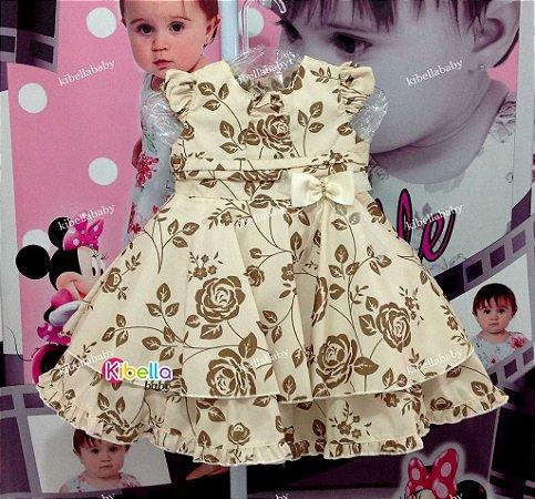 Vestido De Festa Infantil Realeza com renda  - Tam. 1 / 3