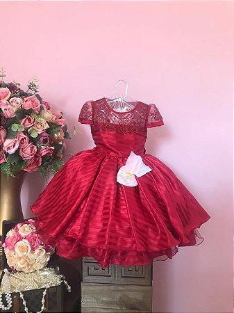 Vestido  Vermelho Devorê 2629