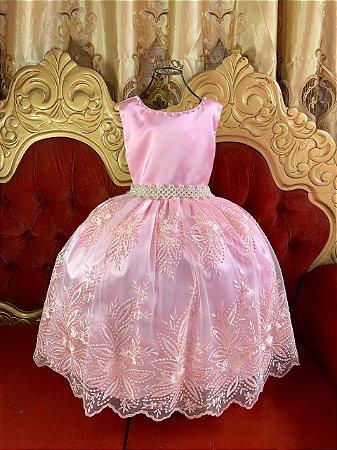 Vestido Realeza Rosa 2204