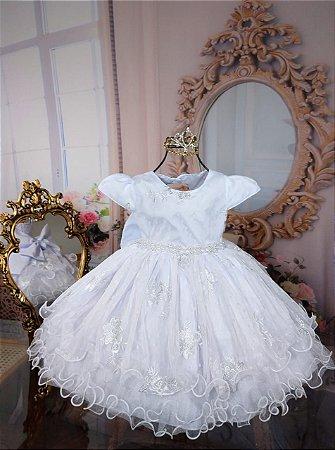 Vestido batismo branco 2035