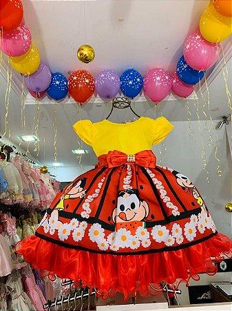 Vestido Infantil magali turma da monica