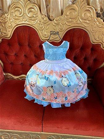 Vestido temático Alice Pais das maravilhas  325
