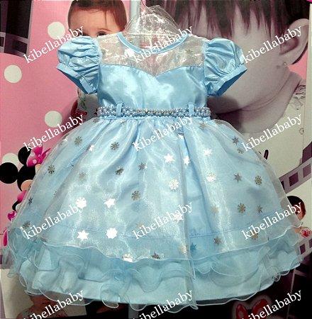 Vestido Infantil Frozen - 1/3