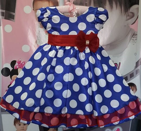 Vestido Infantil Galinha Pintadinha - Tam 1 ao 3
