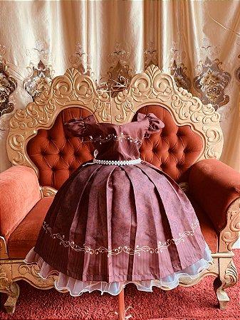 Vestido Marsala de luxo casamento festa aniversário