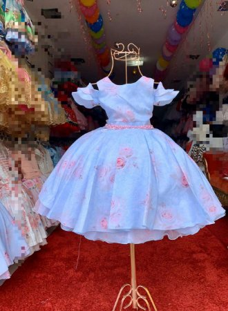 Vestido Azul de luxo casamento festa aniversário