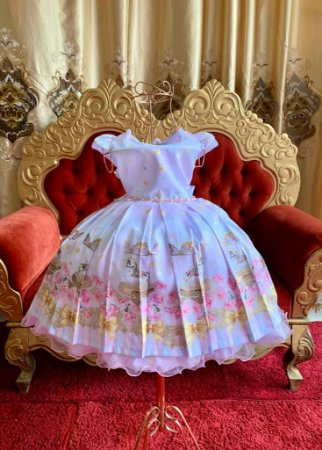 Vestido Carrossel de luxo aniversario festa