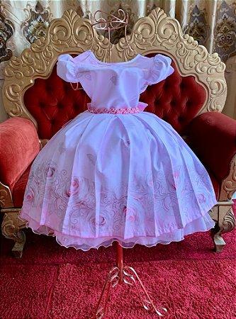 Vestido rosa de luxo aniversario festa