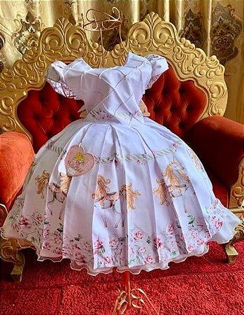 Vestido Uunicornio de luxo festa 2655