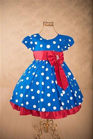 75ff4bdaf9 Vestido Infantil Galinha Pintadinha Faixa Vermelha Luxo - tam 1 ao 3