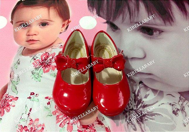 Sapatilha Infantil Pampili Vermelha detalhe Laço - Tam 16x21