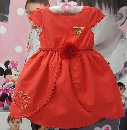 Vestido Infantil Hello Kitty Tam 1 ao 3