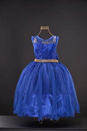 Vestido azul para festa infantil