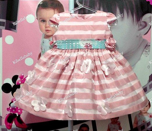Vestido de Bebe Pupila Baby - tam P ao G