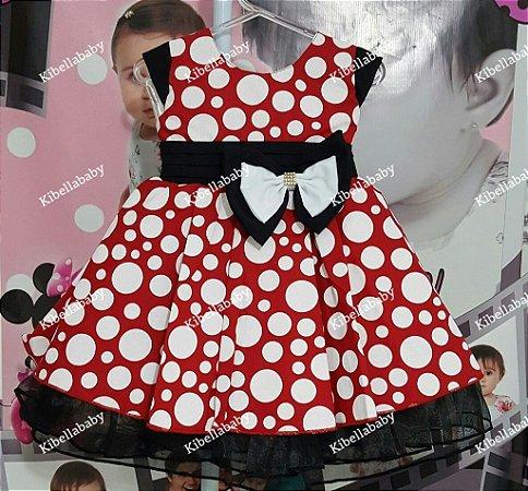 Vestido Infantil Minnie Kadmia - tam 1 ao 3