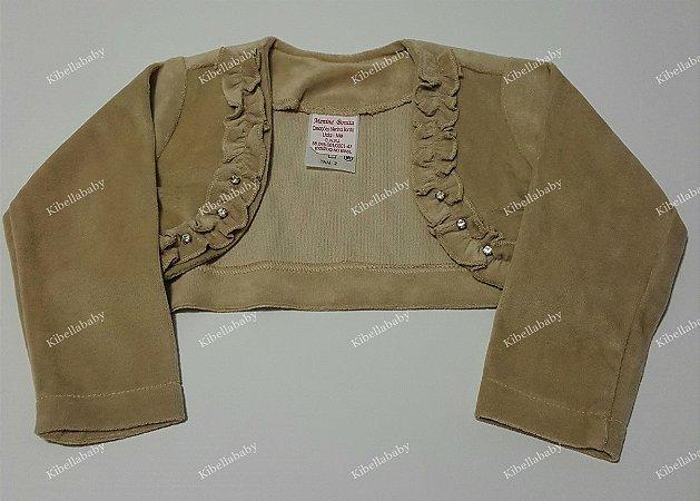 Bolero Infantil Bege Luxo Plush - tam 1 ao 3