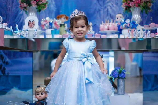 Vestido Infantil Frozen/Cinderela - tam 1 ao 3
