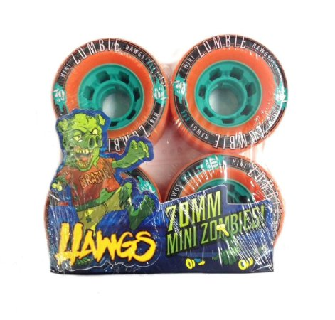Roda Longboard Hawgs Mini Zombie 70mm 84a Laranja