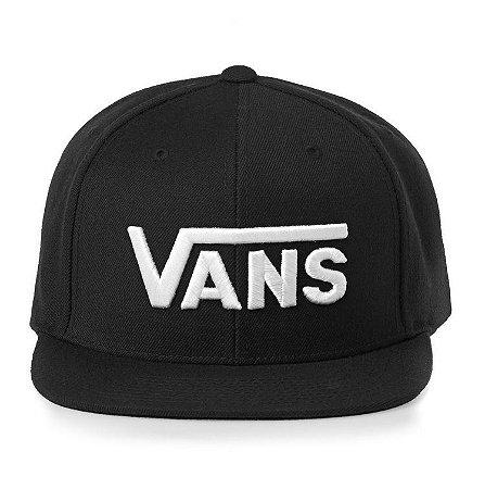 Boné Vans Drop V SnapBack Black - Pégasos Skate Shop - 30 Anos de ... 002849771e7