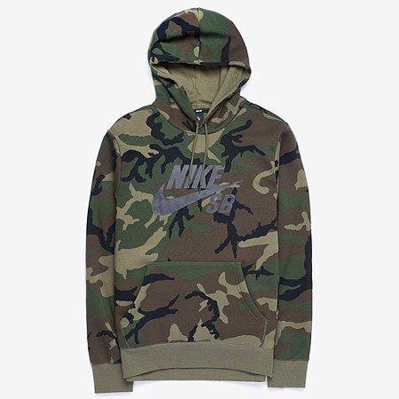 Moletom Nike SB Hoodie Icon Camo