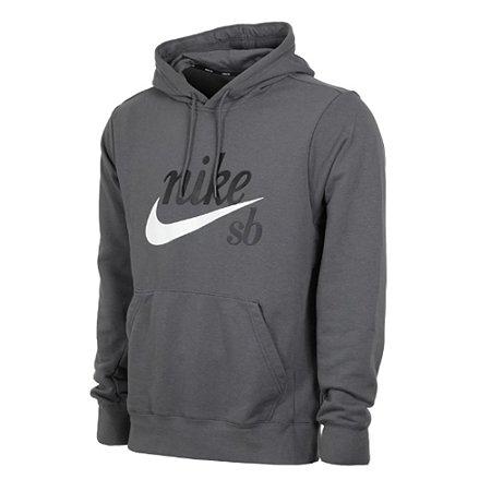 Moletom Nike Sb Hoddie Washed Icon Cinza