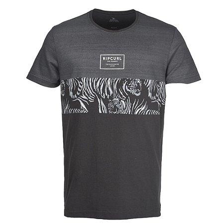 Camiseta Especial Rip Curl Flower Cut Black