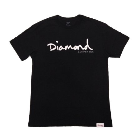 Camiseta Diamond OG Script Tee Black