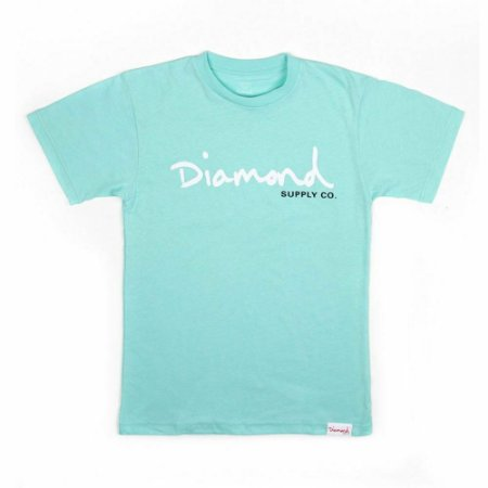 Camiseta Diamond OG Script Tee Blue