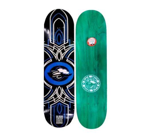 Shape De Skate Black Sheep - Logo Azul 8.0