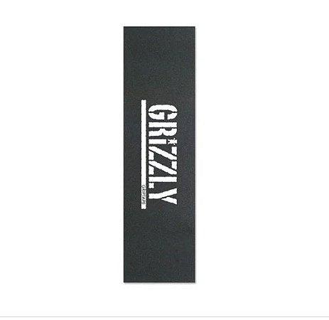 Lixa Grizzly Logo Branca