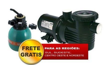 Filtro de piscina Dancor DFR-11 c/ bomba 1/4CV 127/220/254V M