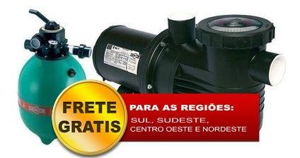 Filtro de piscina Dancor DFR-15-7 c/ bomba 1/2CV 127/220/254V M