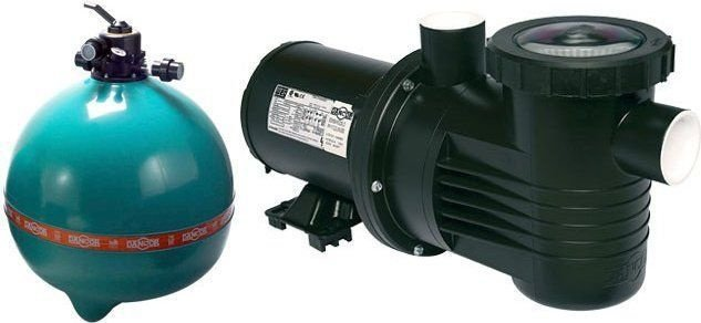 Filtro de piscina Dancor DFR-30 c/ bomba de 1,5cv 220/380V T