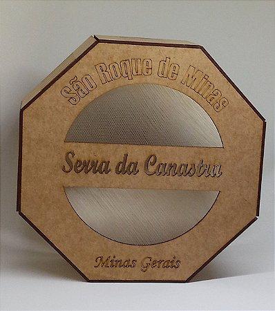 Caixa de Madeira Artesanal Para Presente Canastra