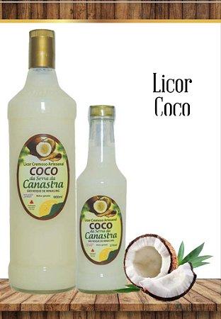 Licor Cremoso Artesanal Canastra 900 ML - Coco