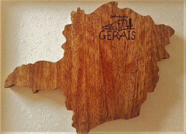 Tábua para Queijo Artesanal Mapa do Estado de Minas Gerais