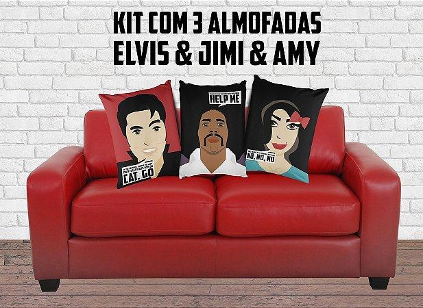 Kit Astros do Rock 3 Almofadas 50x40cm com 20% de desconto!