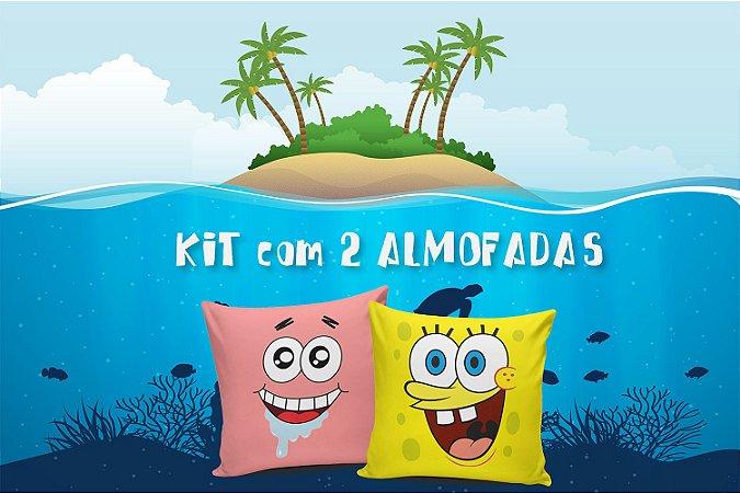 Kit 2 Almofadas Bob & Patrick Minimalista