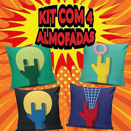 Kit 4 Almofadas Rock Heros