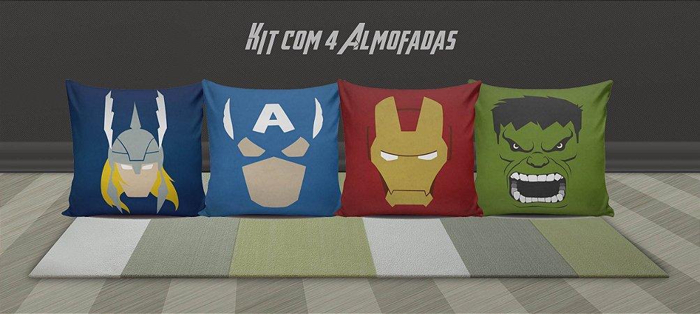 Kit Vingadores 4 Almofadas 30% DE DESCONTO