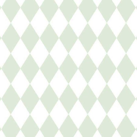 Papel de Parede Quarto Infantil Losango Verde e Branco