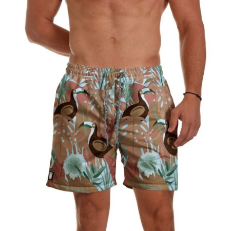 Short Praia Use Thuco Floral Tucano