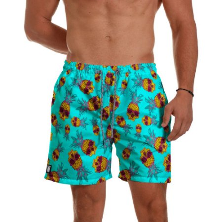 Short  Praia Use Thuco Caveiras Tropical