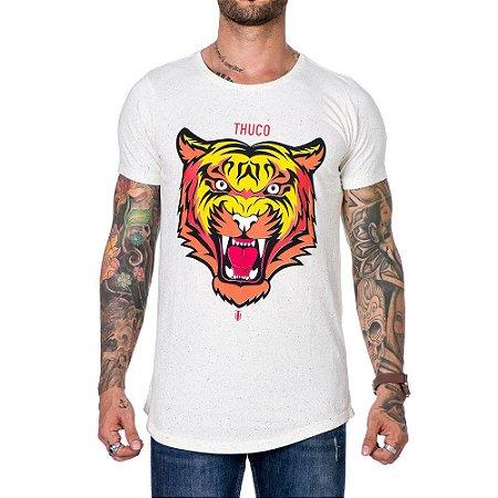 Camiseta Masculina Estampada Long Line Tigre Use Thuco