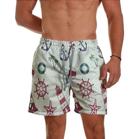 Short de Praia Masculino Estampado Ancoras Farol Use Thuco