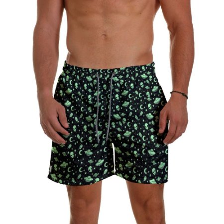 Short de Praia Masculino Estampado Aliens ET Use Thuco