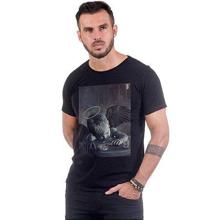 Camiseta Masculina Estampada Anjo  Use Thuco