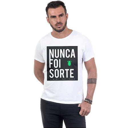 Camiseta Masculina Estampada Nunca Foi Sorte Use Thuco