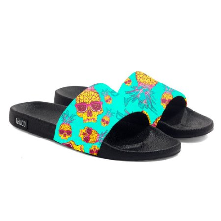 Chinelo Slide Use Thuco Caveira Abacaxi