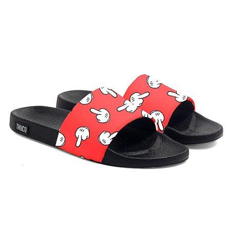 Chinelo Slide Use Thuco Dedos Vermelhos